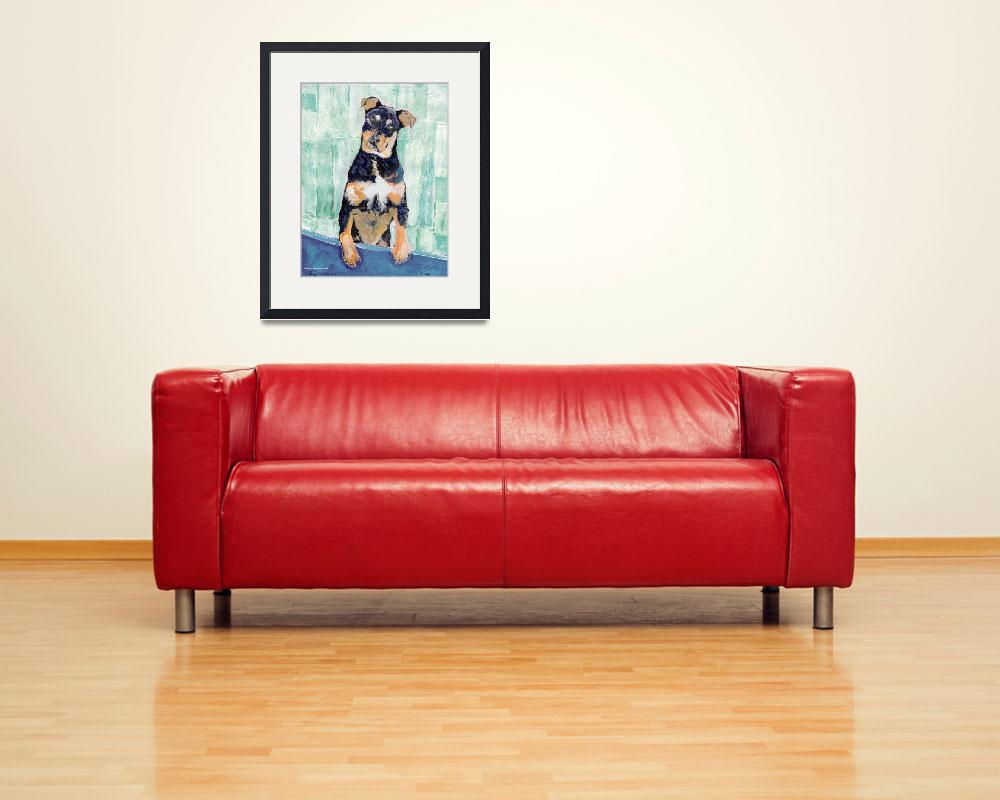 """Cody The Rottwieler Puppy by RD Riccoboni&quot  (2006) by BeaconArtWorksCorporation"