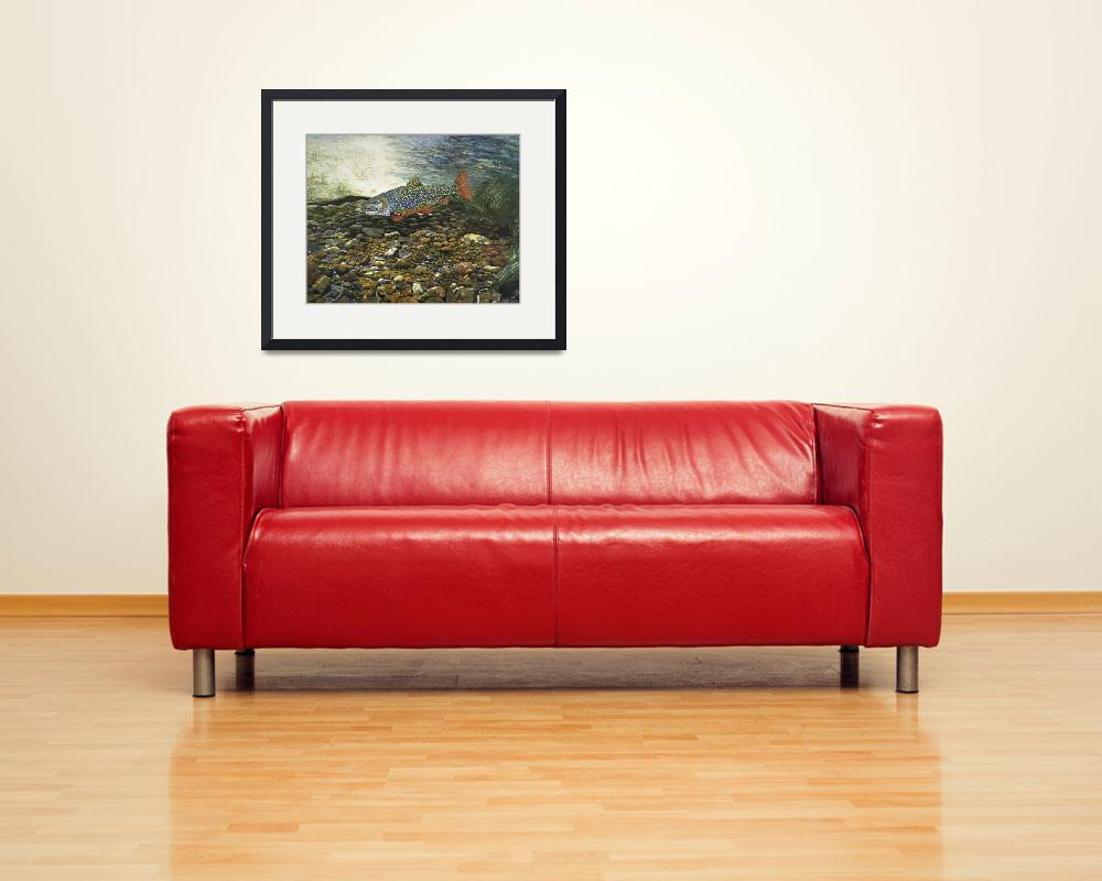 """Trout Fine Art Print Brook Trout Fish Nature Art&quot  (2008) by BasleeTroutman"