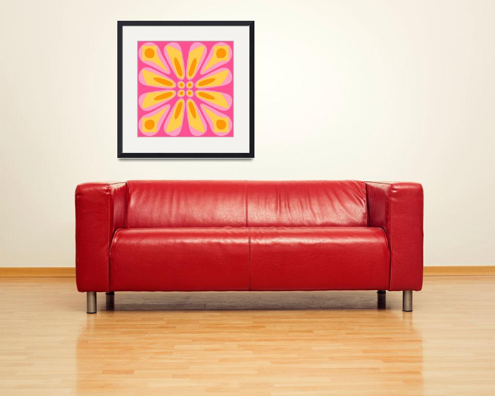 """Pink Yellow Orange Retro&quot  (2009) by RuthPalmer"