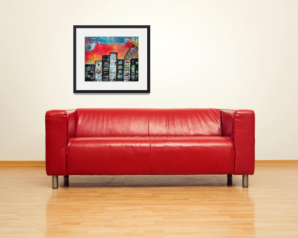 """In The City 1&quot  (2009) by ArtPrints"