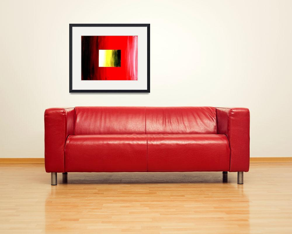 """ABSTRACT 3D RED YELLOW SQUARE&quot  (2006) by teofaith"