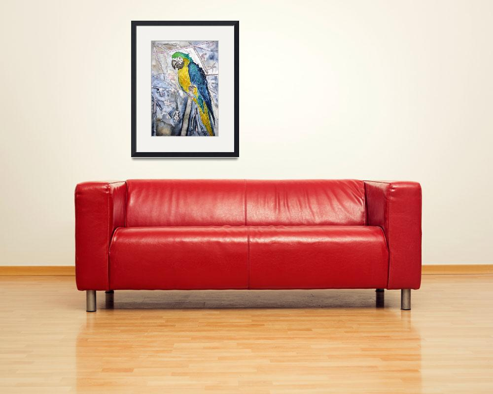 """parrot bird painting&quot  (2008) by derekmccrea"