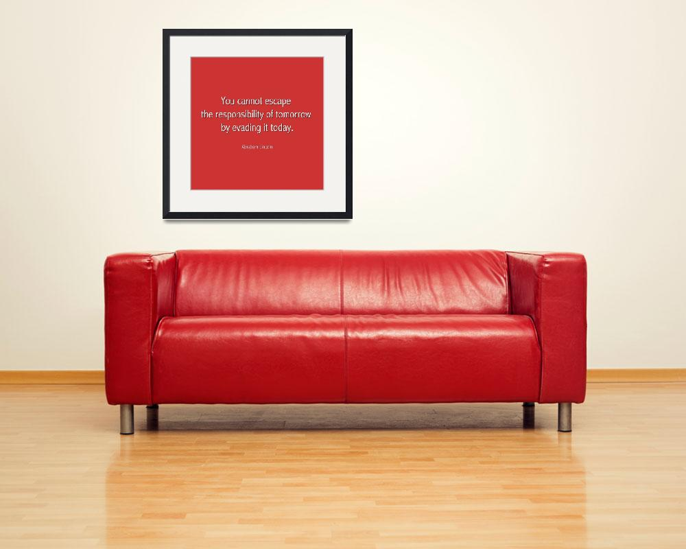"""Abraham Lincoln Famous Quote  - Red&quot  by motionage"