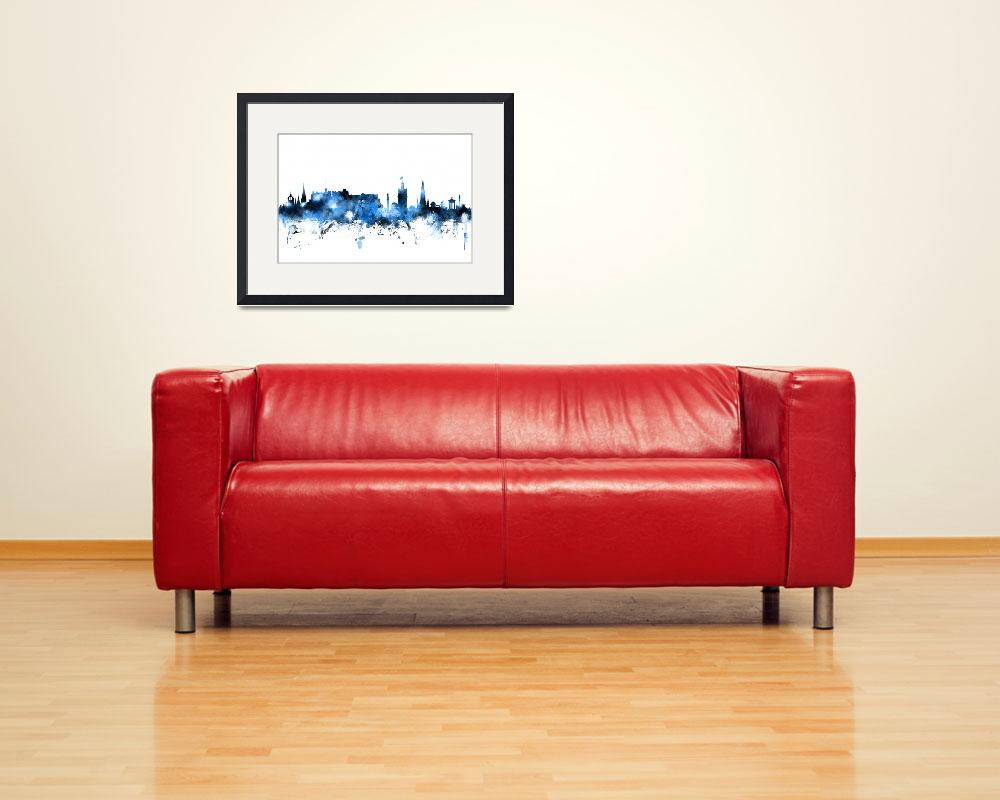 """Edinburgh Scotland Skyline&quot  (2014) by ModernArtPrints"