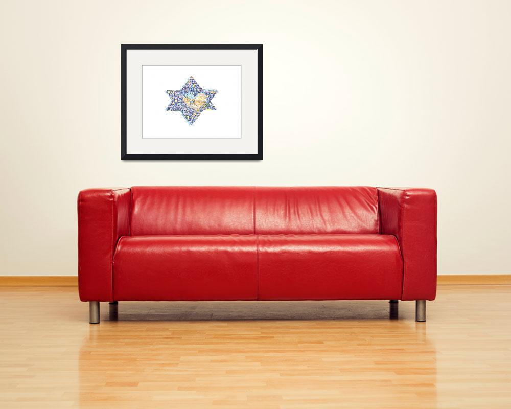 """Jerusalem Star of David&quot  by EllenMillerBraun"