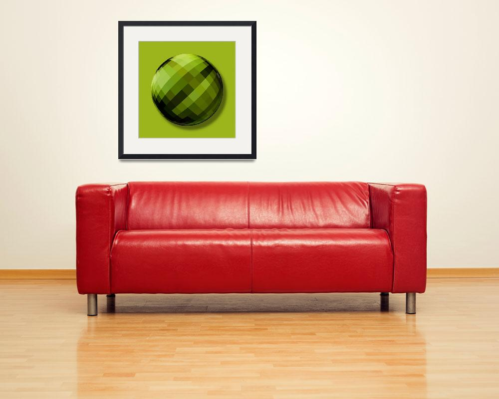 """Incredible Hulk Orb&quot  (2014) by RubinoFineArt"
