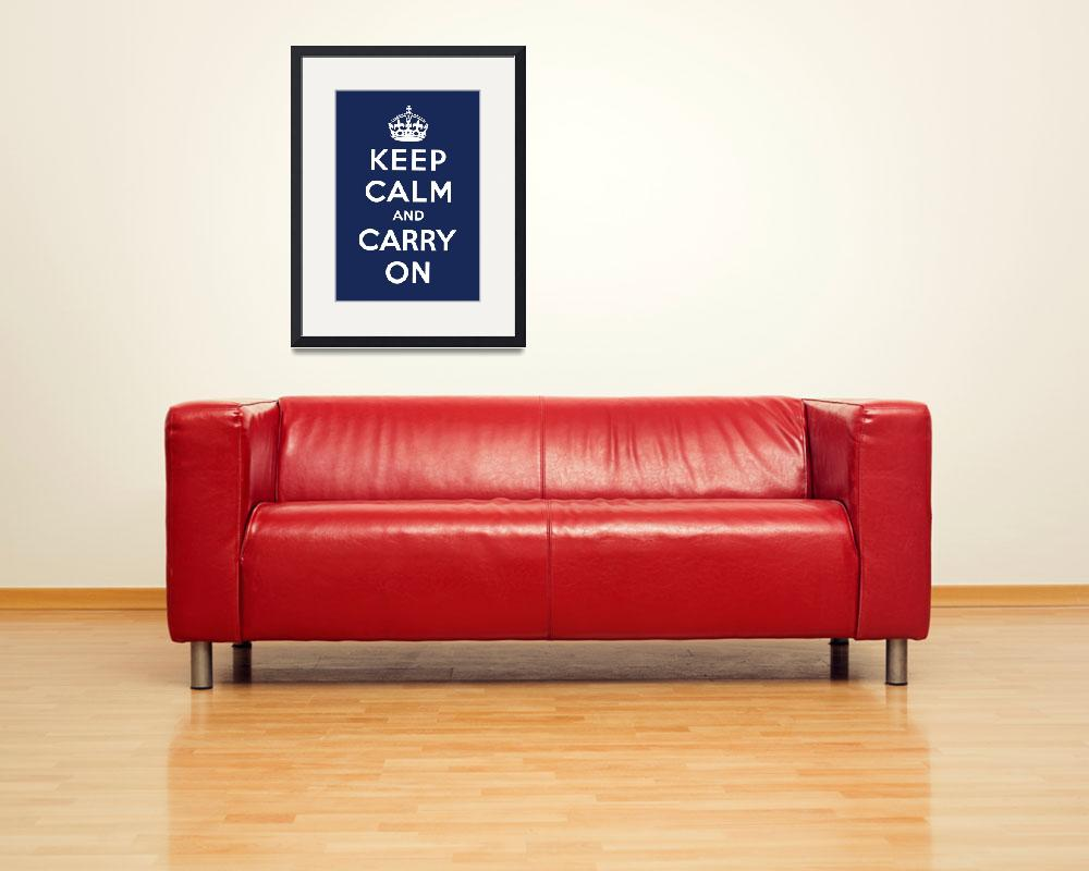 """Blue Keep Calm And Carry On 9&quot  by oldies"