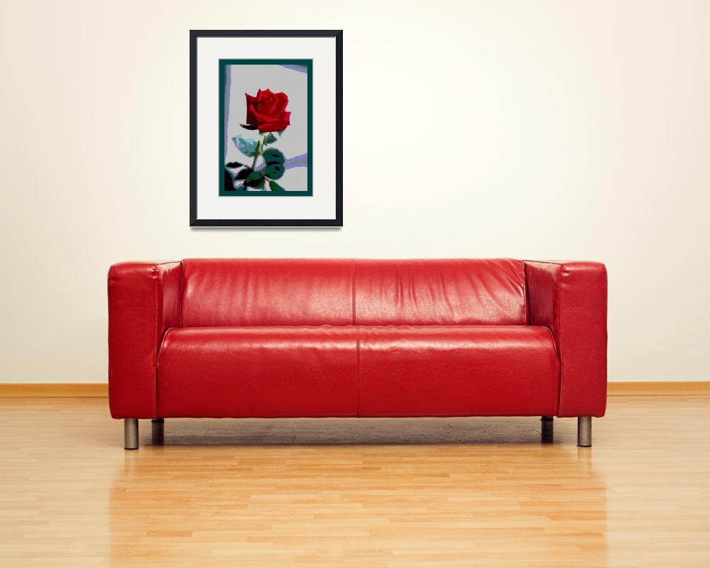 """Red Rose Enhanced small border&quot  (2013) by TheNorthernTerritory"