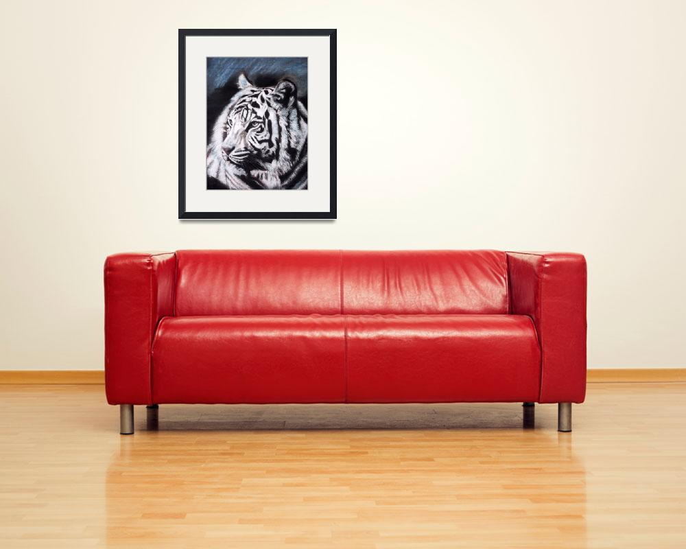 """white tiger&quot  by giftportraits"