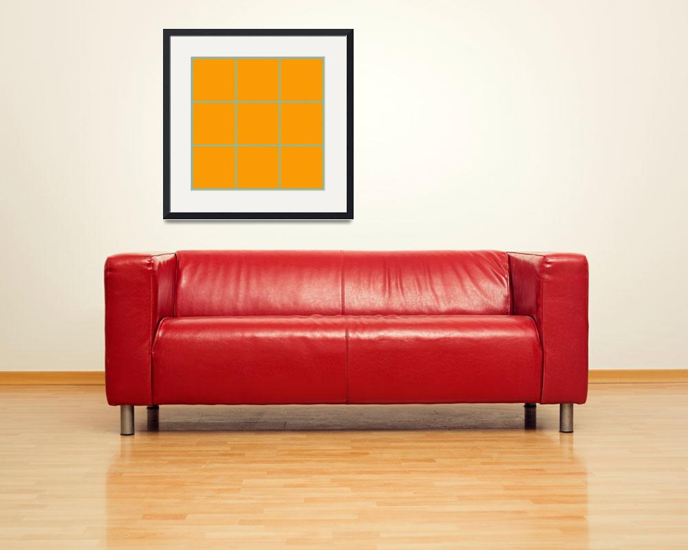 """Orange Window 122 Canvas Contemporary Modern&quot  (2010) by Ricardos"