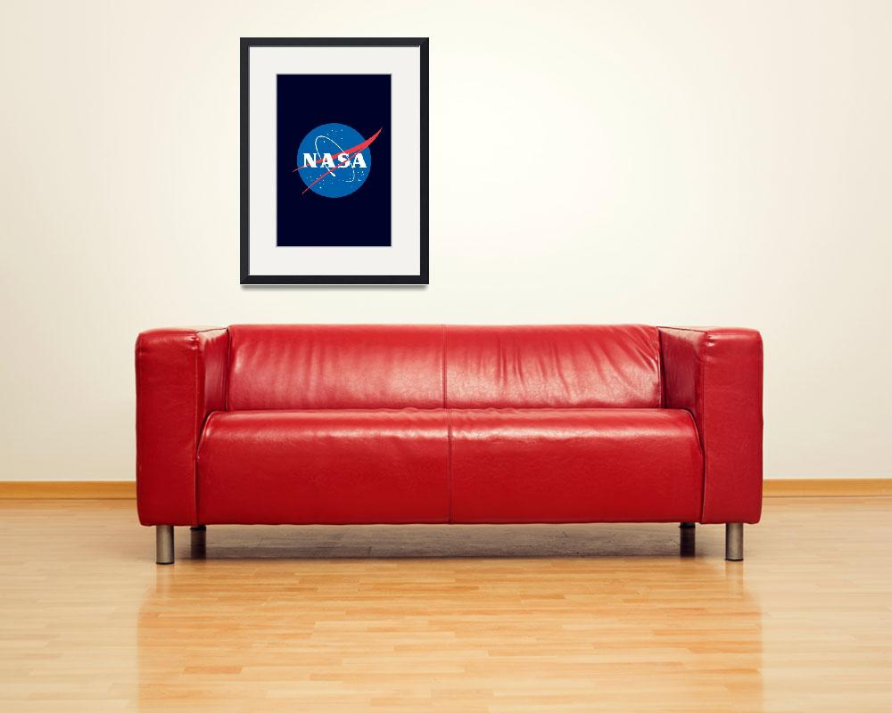 """NASA Logo Poster&quot  by jvorzimmer"