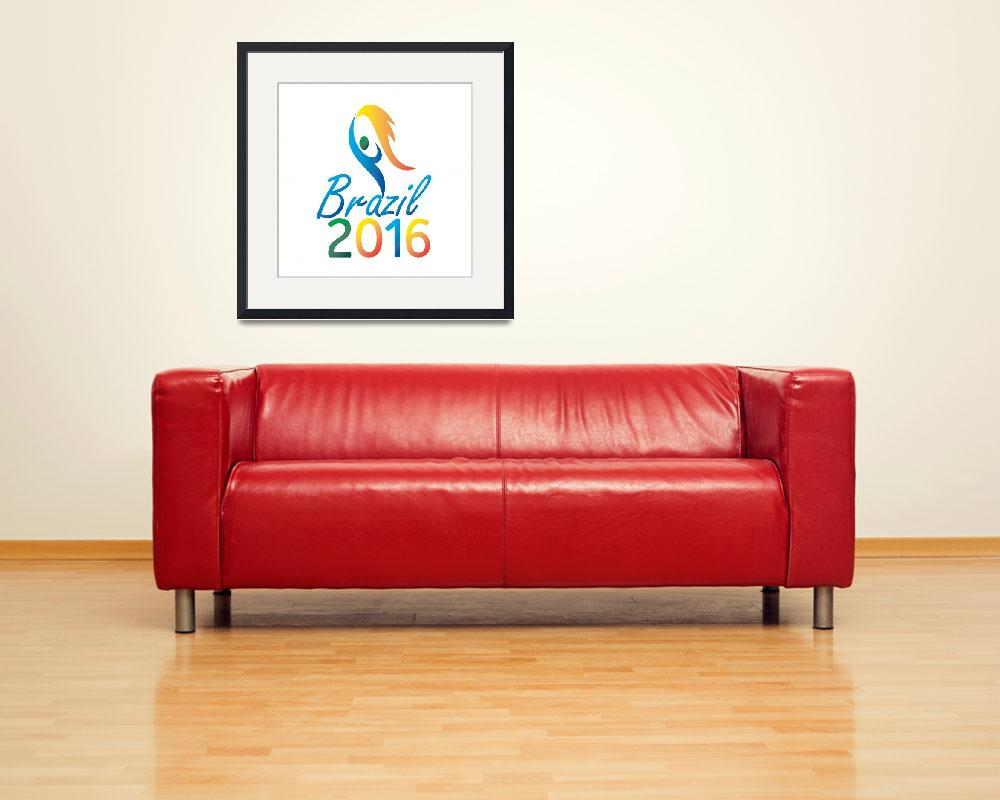 """Brasil 2016 Summer Games Flaming Torch&quot  (2015) by patrimonio"