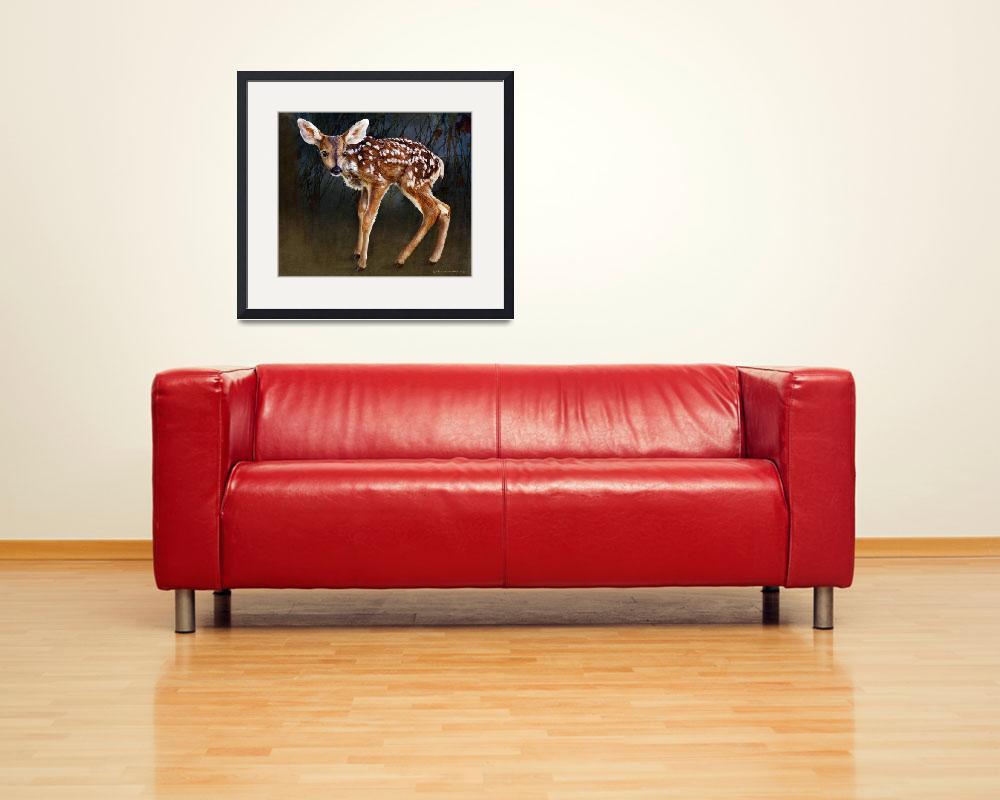 """wobbly baby fawn deer portrait&quot  (2014) by rchristophervest"