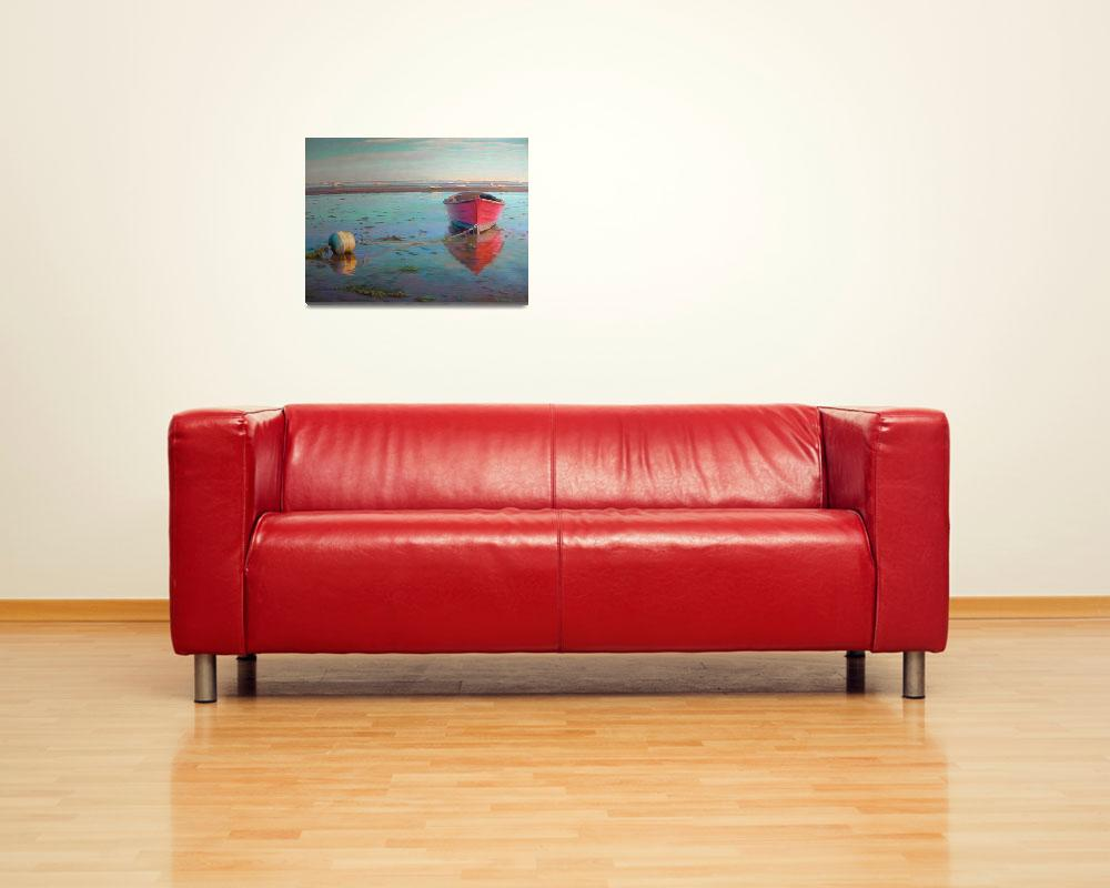 """Red Mahogany Boat&quot  (2010) by NoWallsStudio"