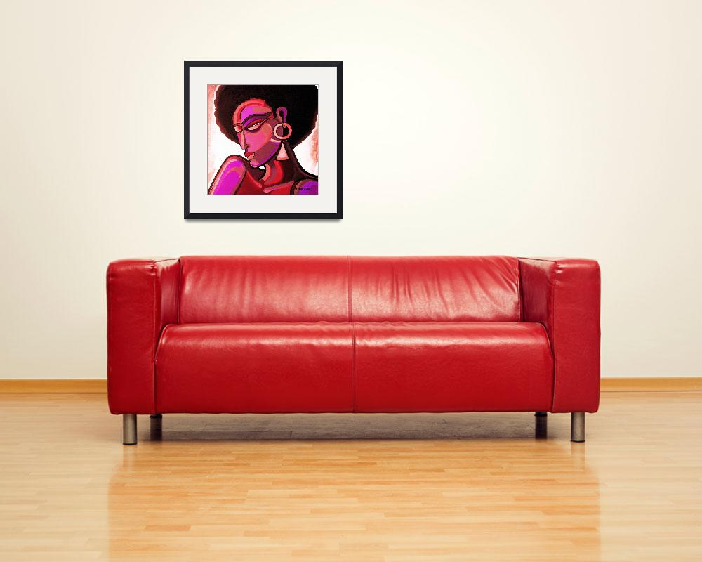 """Afrolife#4RedPrint&quot  (2010) by masud"