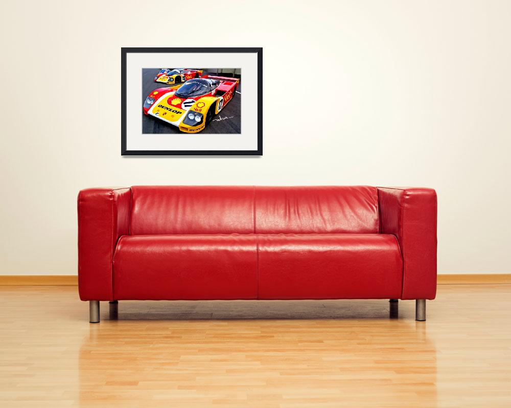 """Porsche 962, ""Lets get ready to rumble""&quot  (2009) by ArtbySachse"