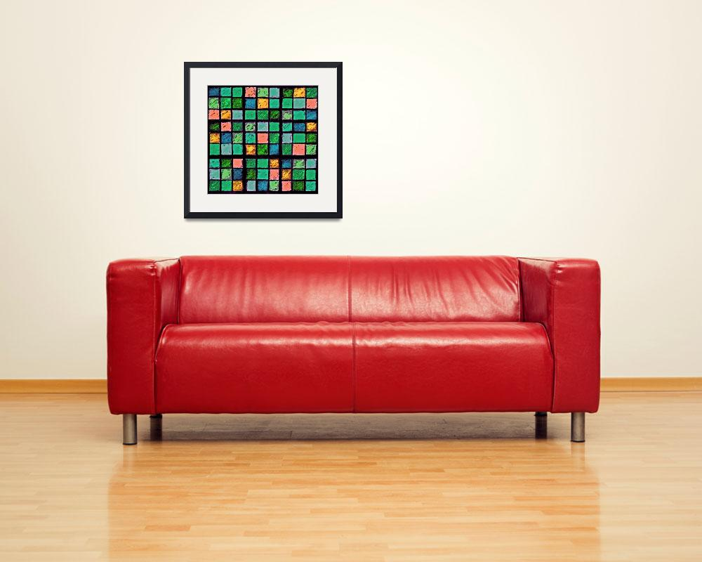 """Sudoku Abstract Blue Green Orange&quot  (2012) by KsWorldArt"