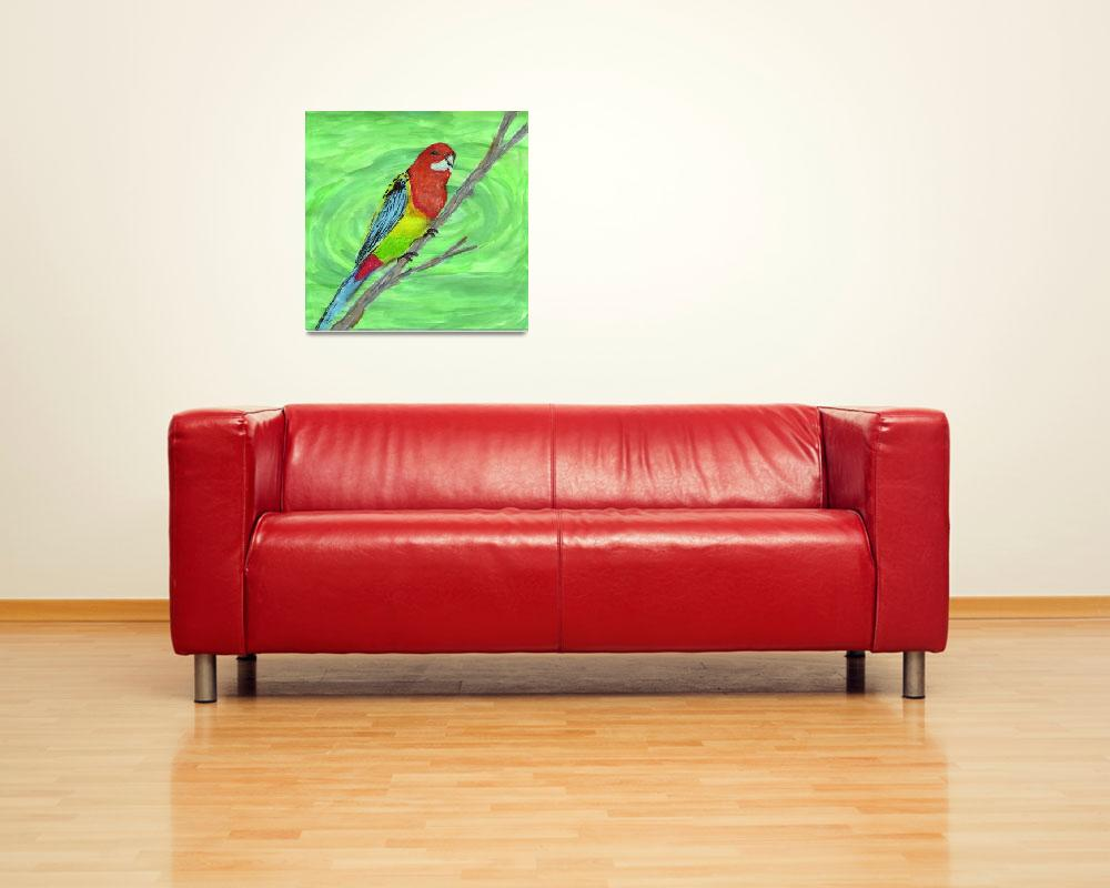 """Eastern Rosella&quot  (2008) by mistypoe"