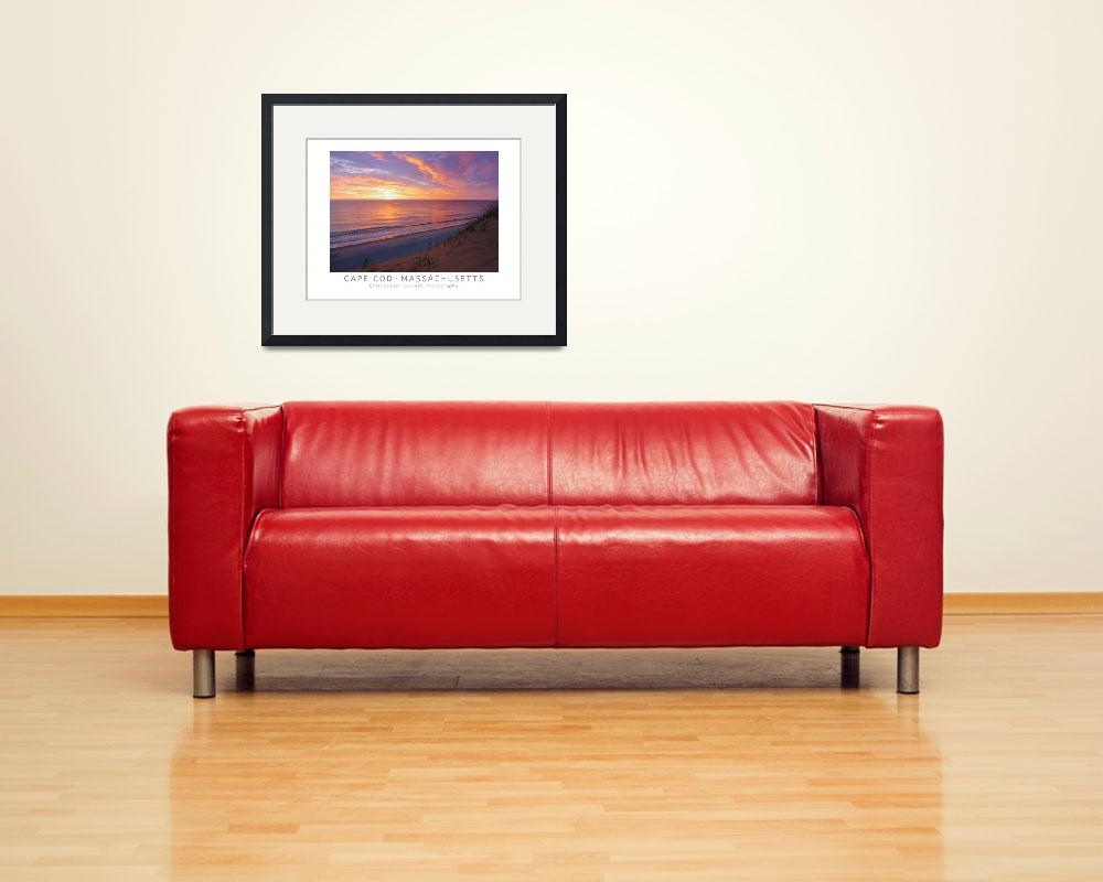 """Cape Cod Sunrise Poster Print (Wellfleet)&quot  (2014) by ChrisSeufert"