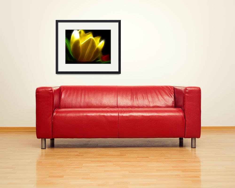 """one yellow tulip&quot  (2011) by susanboogie"