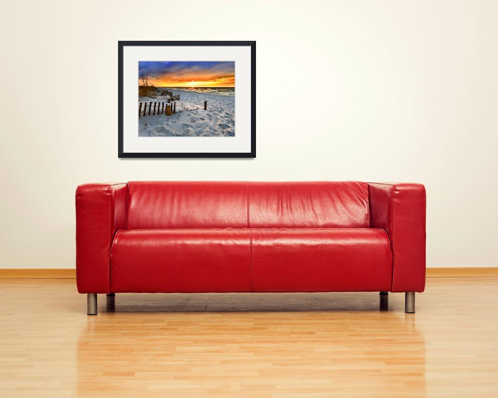 """Burning Sunrise Print Sunset Landscape Fine Art&quot  (2011) by eszra"