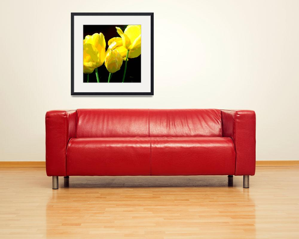 """YELLOW TULIPS II&quot  (2014) by HerbDickinson"