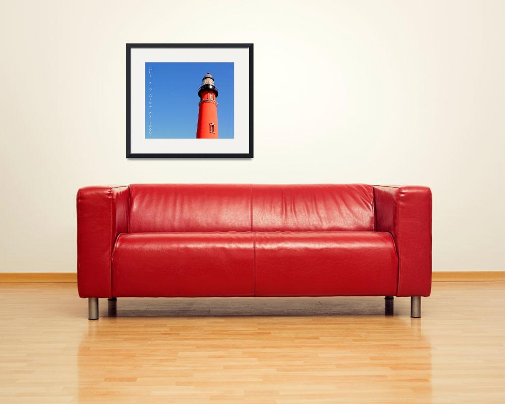"""Lighthouse and a Clear, Blue Sky&quot  (2009) by ChrisCrowley"