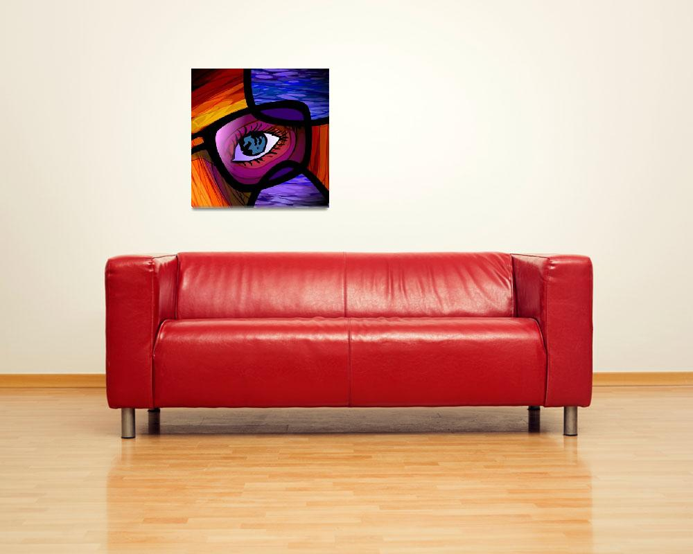 """Digital painting of spectacle and eye background&quot  (2009) by digitalpainting"