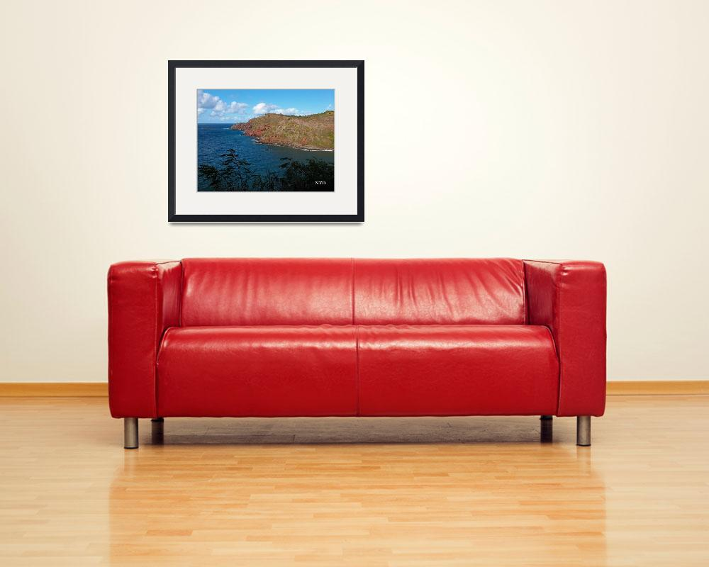 """Red Cliffs Of Maui&quot  (2008) by NTBrooksFineArt"
