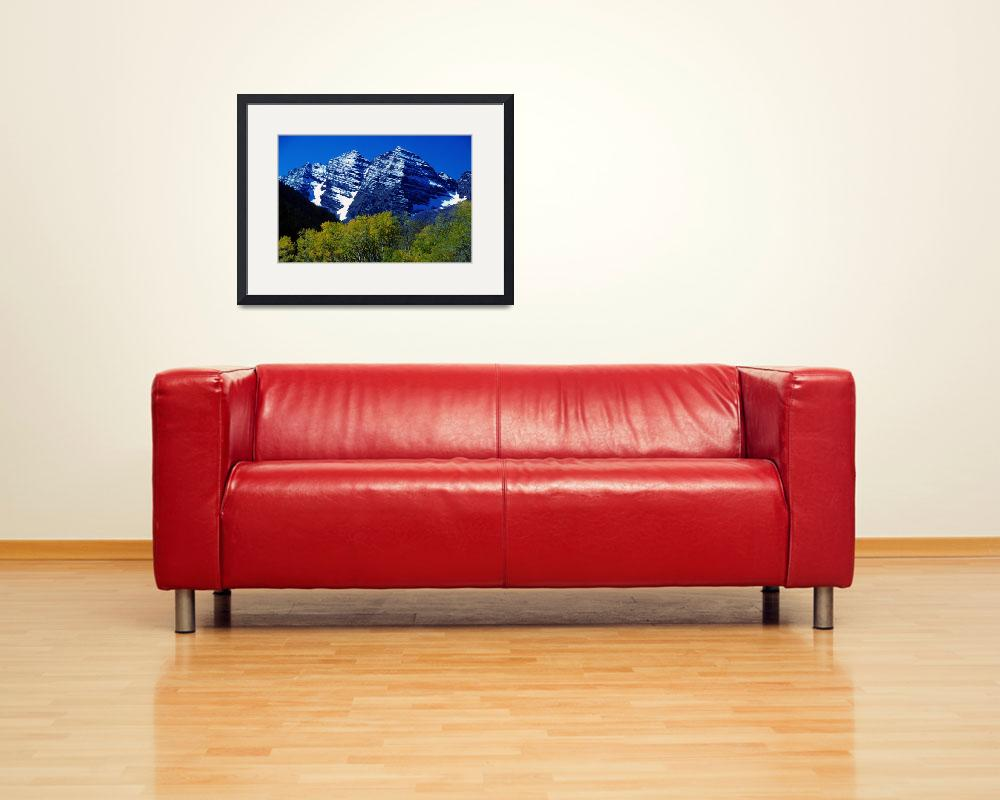 """Maroon Bells Colorado&quot  (1985) by lightningman"