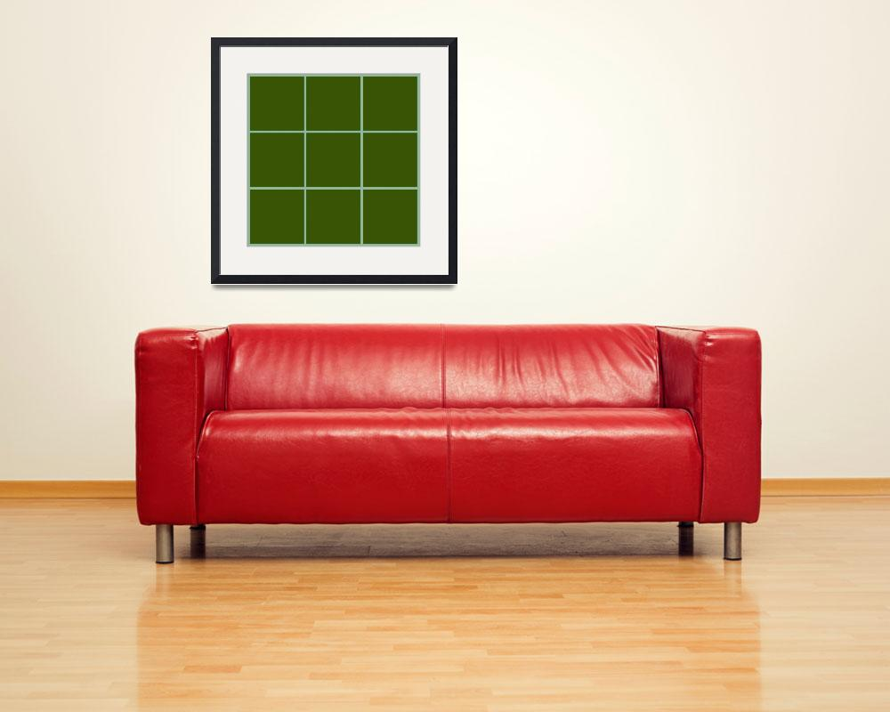 """Green Window 014 Canvas Contemporary Modern&quot  by Ricardos"