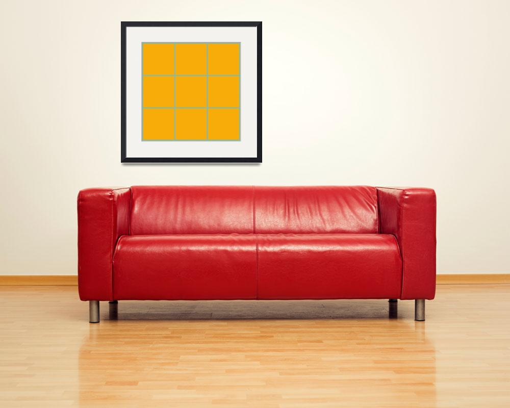 """Orange Window 096 Canvas Contemporary Modern&quot  (2010) by Ricardos"