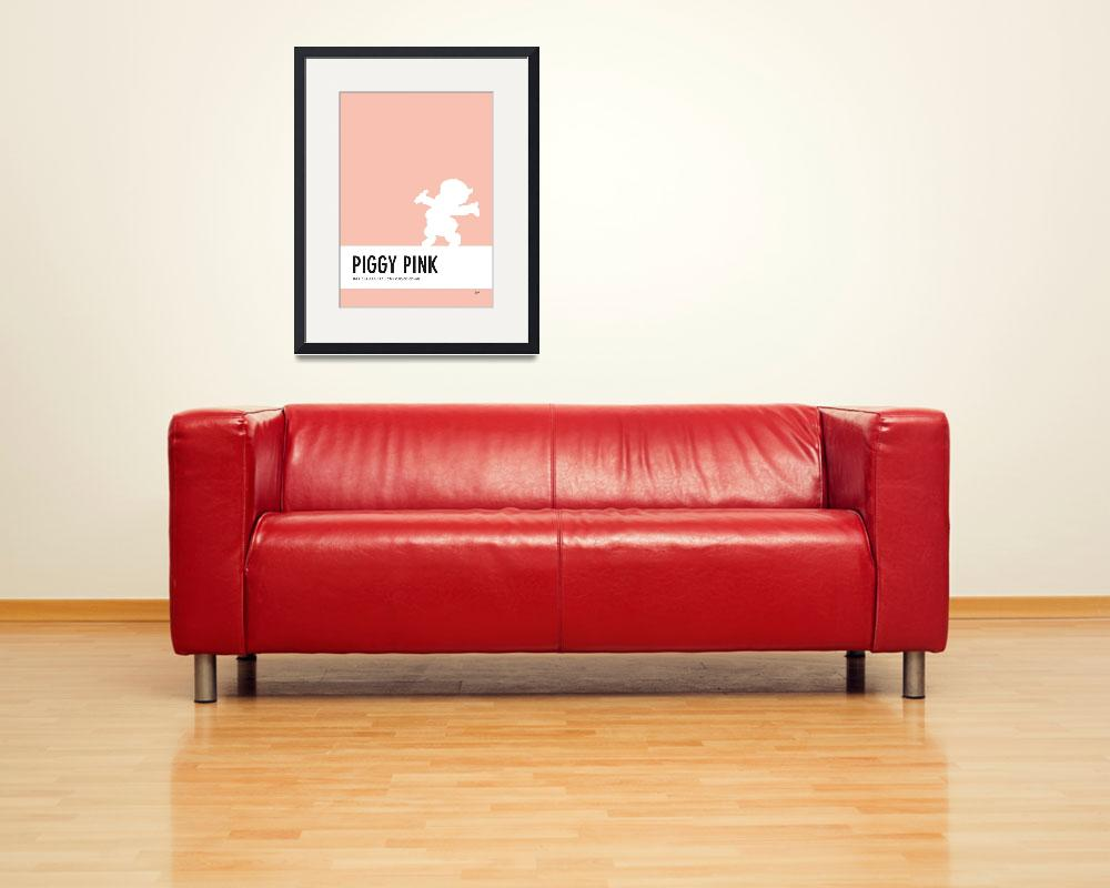 """No17 My Minimal Color Code poster Porky Pig&quot  by Chungkong"