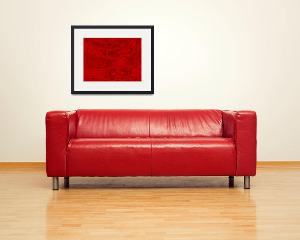 """red abstract large&quot  (2008) by shanmaree"