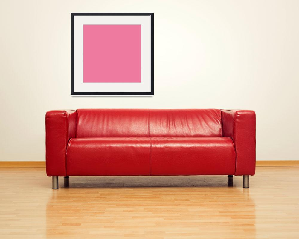 """Square PMS-204 HEX-ED7A9E Pink Magenta Red&quot  (2010) by Ricardos"