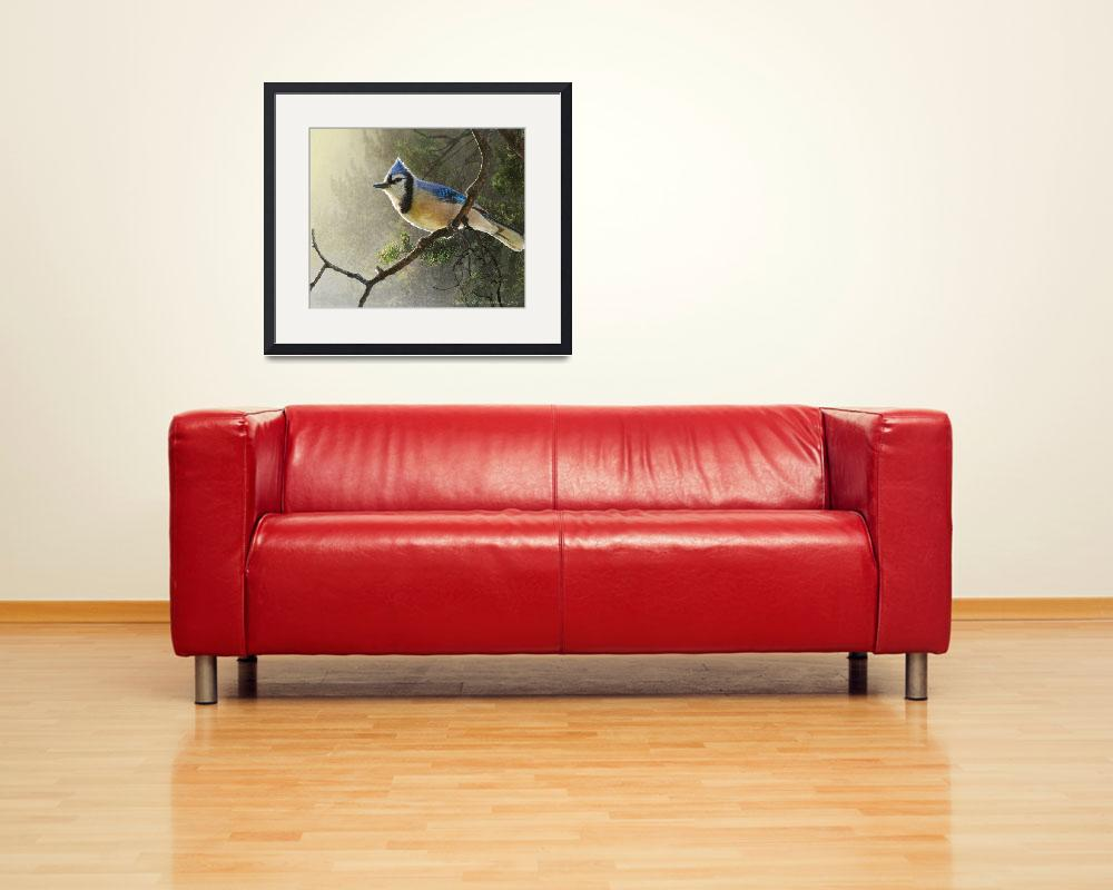 """early bird blue jay&quot  (2014) by rchristophervest"