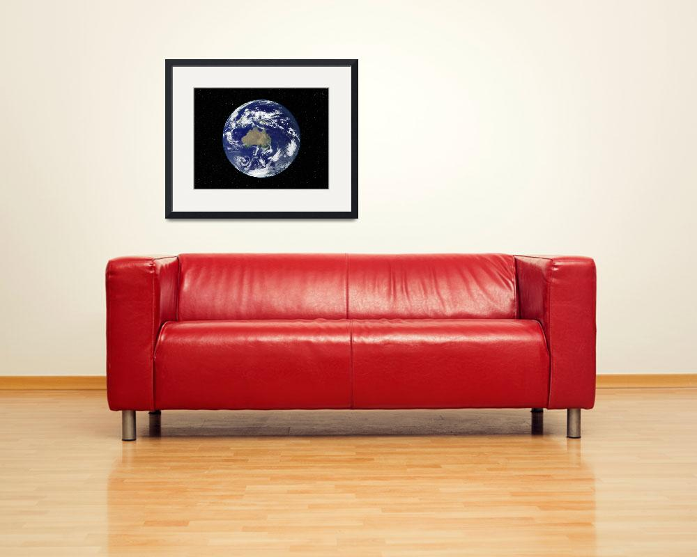 """Fully lit Earth centered on Australia and Oceania&quot  by stocktrekimages"