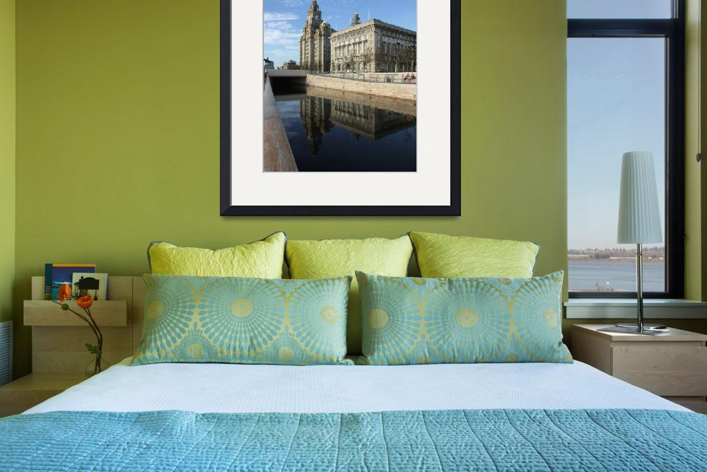 """Liverpool Pierhead Liver building Canal Waterfront&quot  by korhil65"