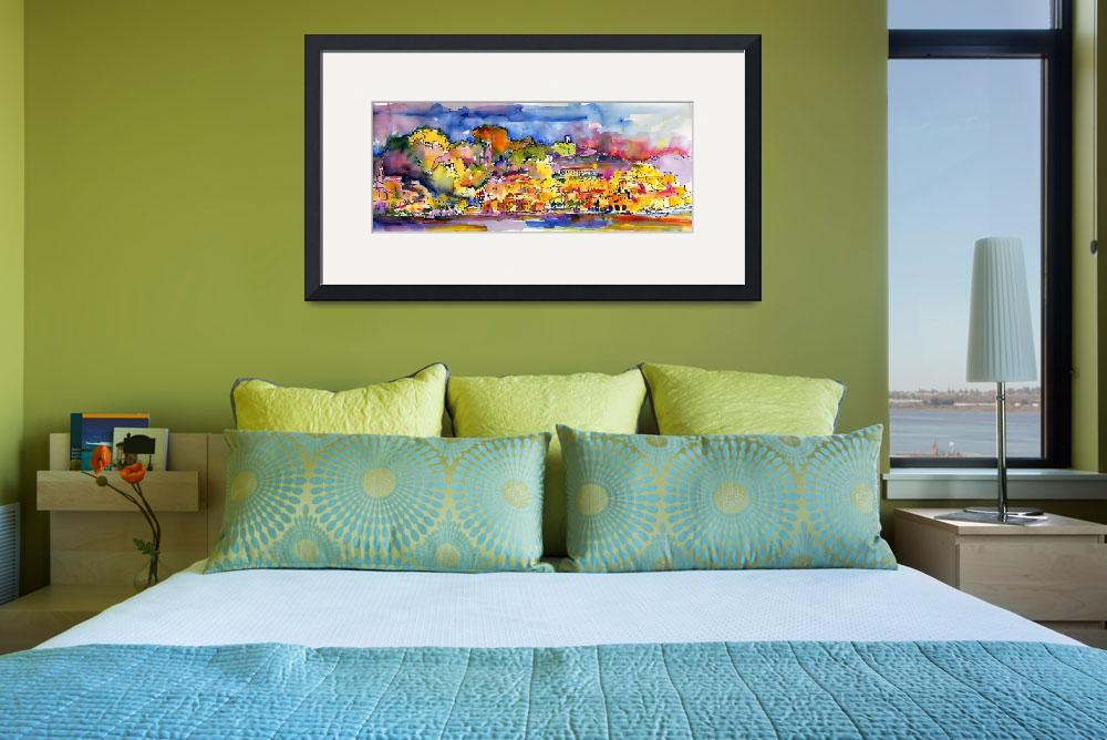 """Amalfi Summer Watercolor Painting by Ginette&quot  (2009) by GinetteCallaway"