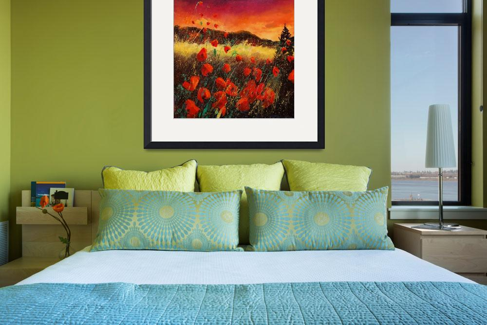 """Sunset red poppies 67&quot  by pol"