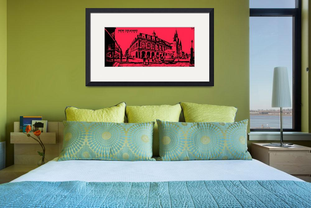 """Jackson Square New Orleans in Red&quot  by kFergPhotos"
