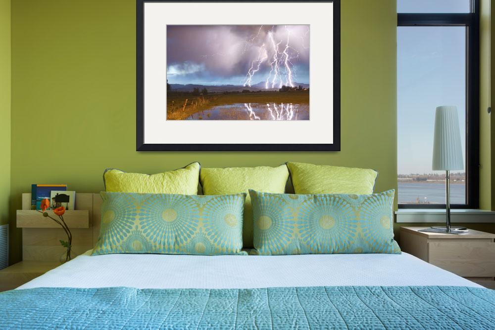 """Lightning Striking Longs Peak Foothills 4&quot  (2012) by lightningman"