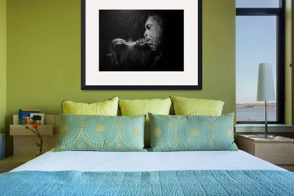 """coltrane&quot  (2010) by alansmithart"