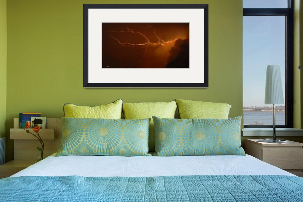 """LIGHTNING EMANATING FROM CLOUD&quot  (2008) by Mysticphotos"