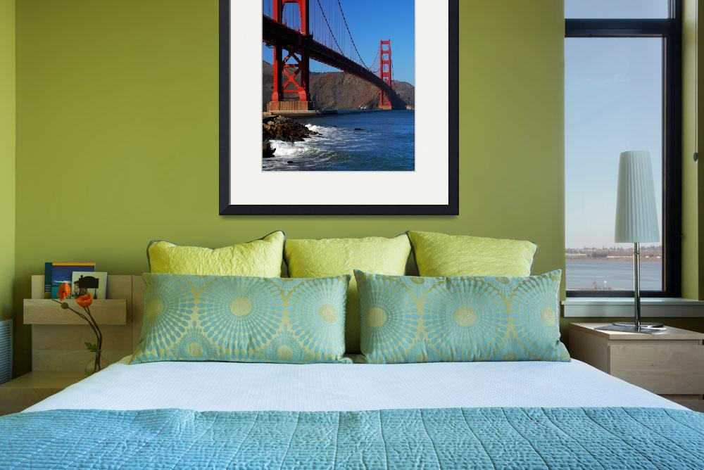 """Golden Gate Waves&quot  (2009) by PadgettGallery"