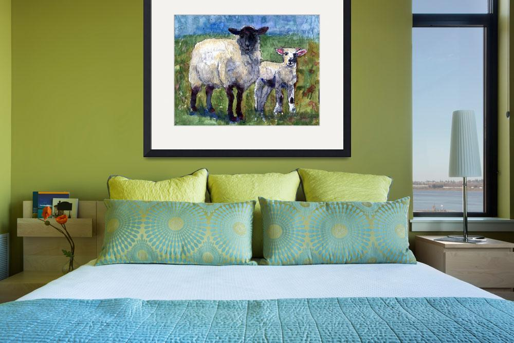 """Ewe and Me Against the World, Sheep Print&quot  by schulmanart"