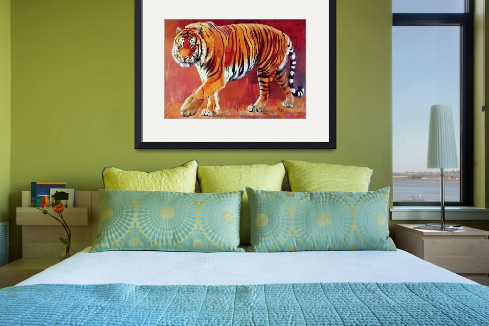"""Bengal Tiger by Mark Adlington&quot  by fineartmasters"