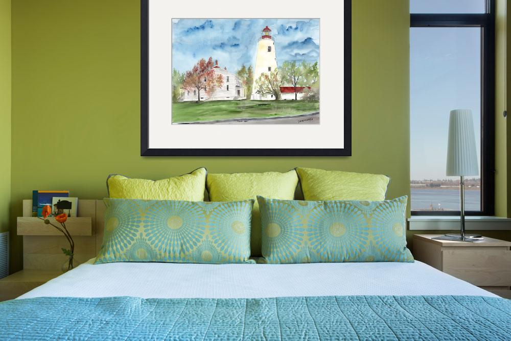 """SANDY HOOK LIGHTHOUSE POSTER&quot  (2008) by derekmccrea"