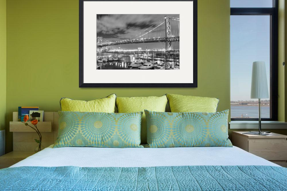 """Ben Franklin Bridge HDR&quot  (2011) by christiancarollo"