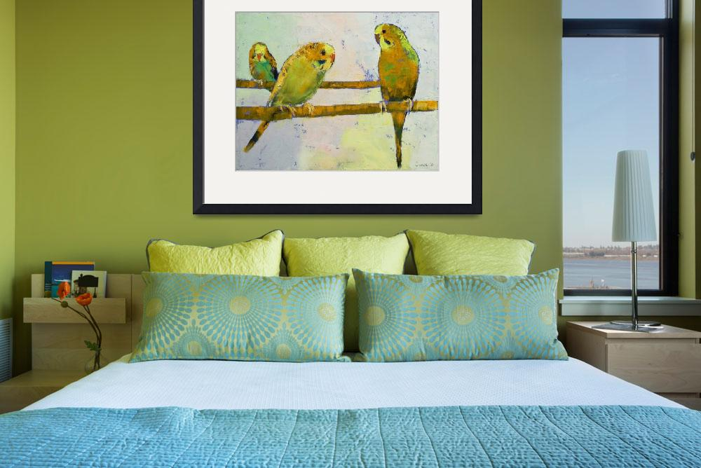 """Three Parakeets&quot  by creese"